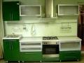 маленькая кухня в стиле зелёного цвета