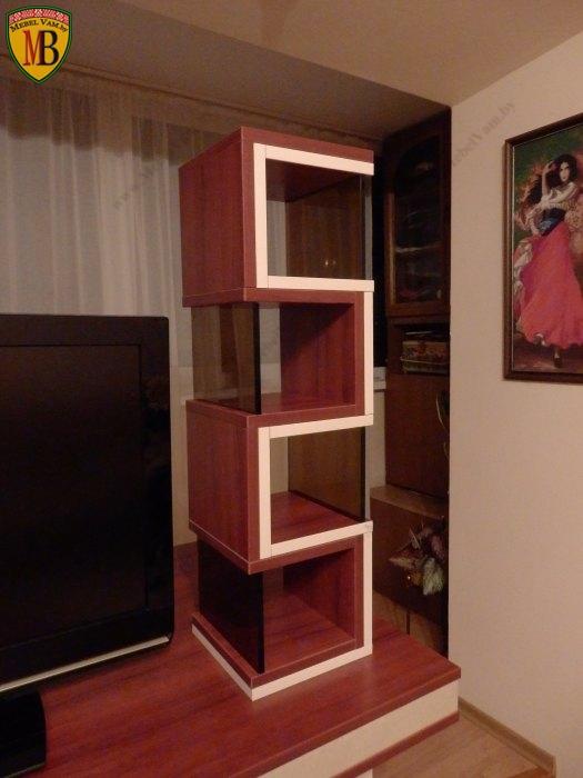 Мебельны полки стеллажи украшение стильного дизайн-проекта м.