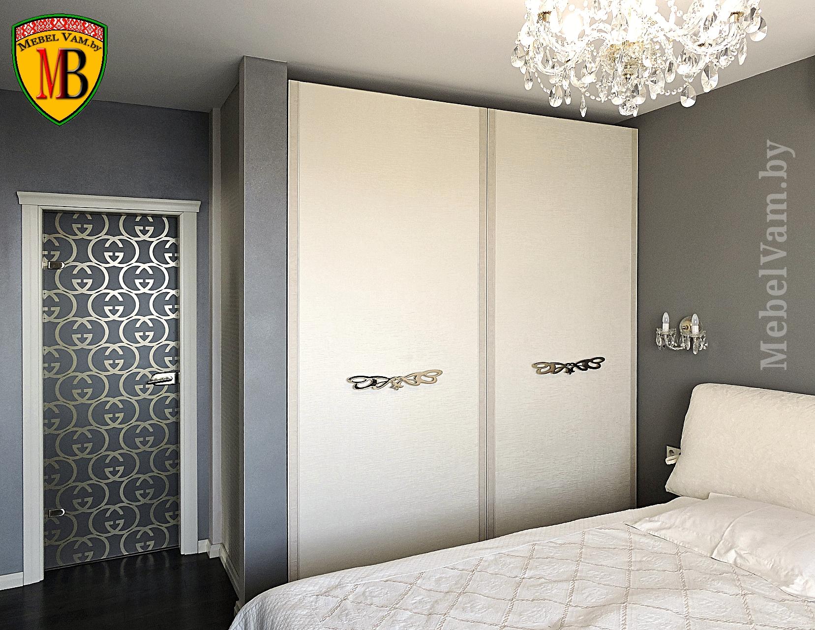 Шкафы в авторском дизайне спальни