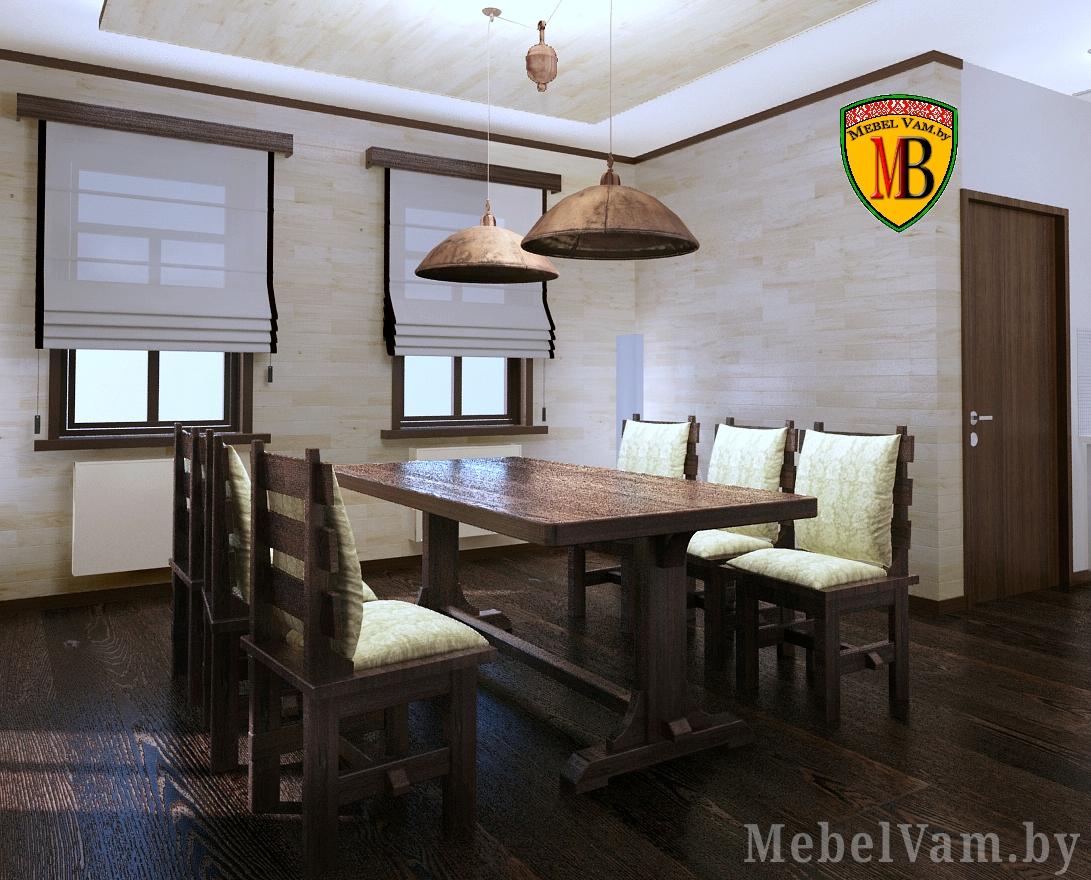 деревянный стол для зала