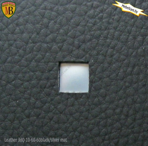 Leather 3D Q-10-60-60 Black/silver mat
