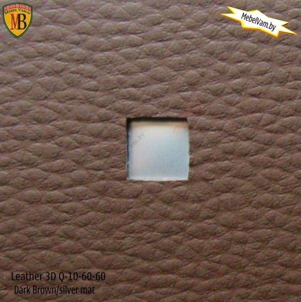 Leather 3D Q-10-60-60 dark brown/silver mat