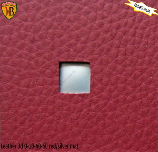 Leather 3D Q-10-60-60 Red/ silver mat