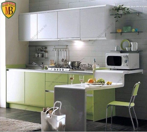 маленькая кухня в стиле hi-tech серого цвета