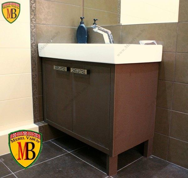 Мебель для ванной под заказ, тумба корпусная с умывальником