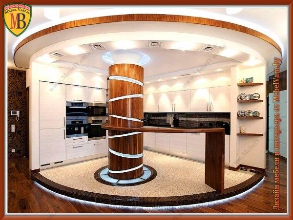 кухня_1096_дизайнерская_материал мебельный пластик(Италия), корпус МДФ, ДСП.