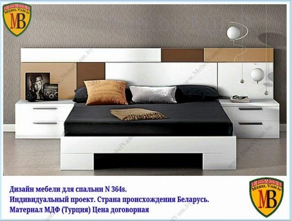 спальня_дизайн N154р_индивидуальный заказ_миснк