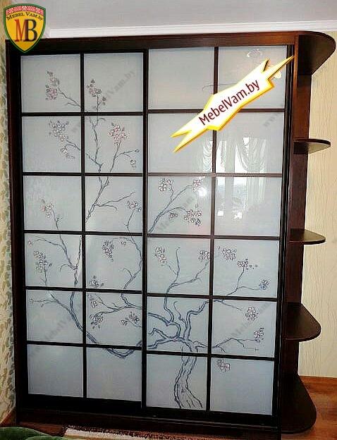шкаф-купе с художественной росписью
