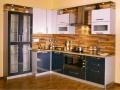 угловая кухня hi-tech